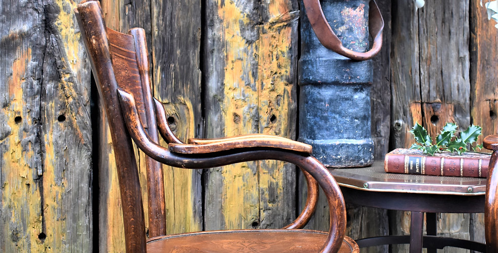Antique Rare No 1096 Thonet Embossed Bentwood 1914 Armchairs Art Nouveau Chair