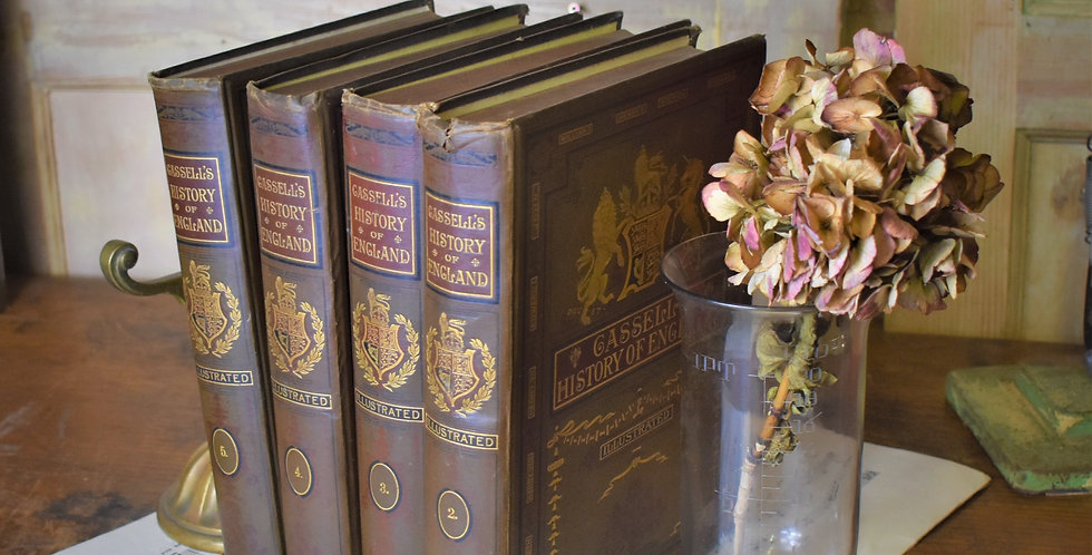 Antique 1897 Cassel's History of the World Jubilee Edition Embossed Gilt 4 Vols