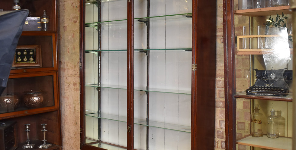 Antique Vintage Shop Haberdashery Mahogany Glass Cabinet Outfitters