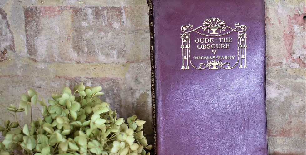 Antique 1922 Jude the Obscure by Thomas Hardy Full Leather Binding