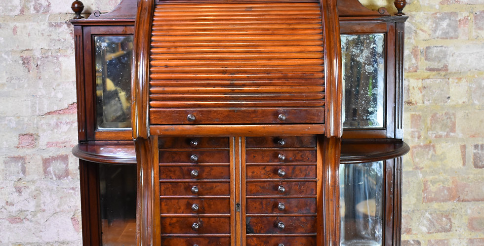 Antique victorian dentists medical cabinet shop display