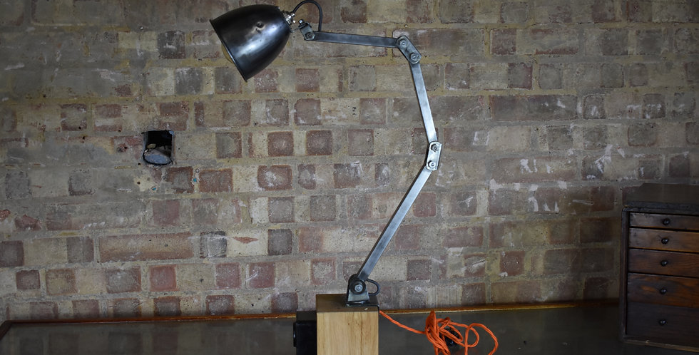industrial anglepoise lamp