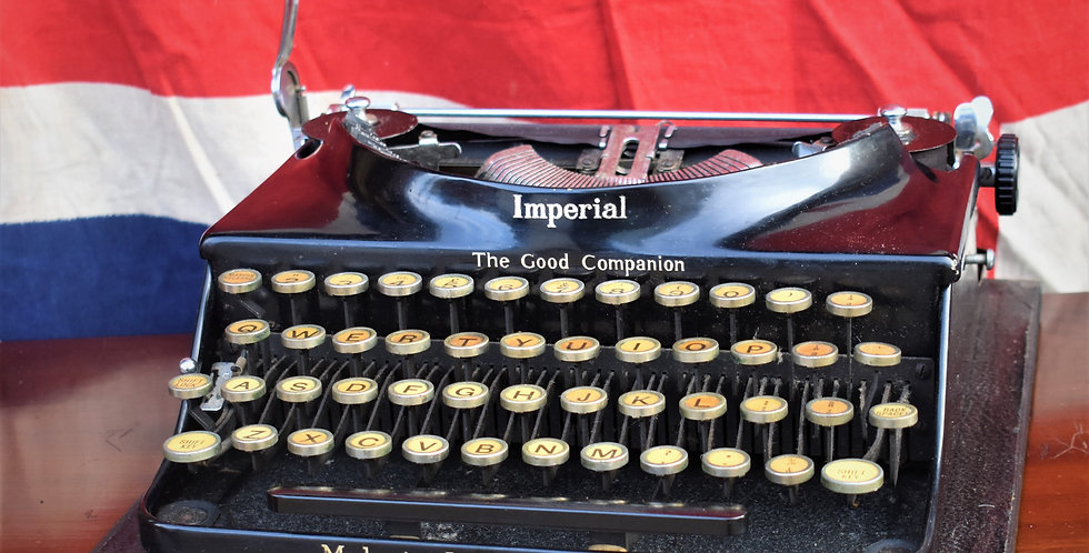 Antique 1930s Imperial Typewriter Portable The Good Companion With Case