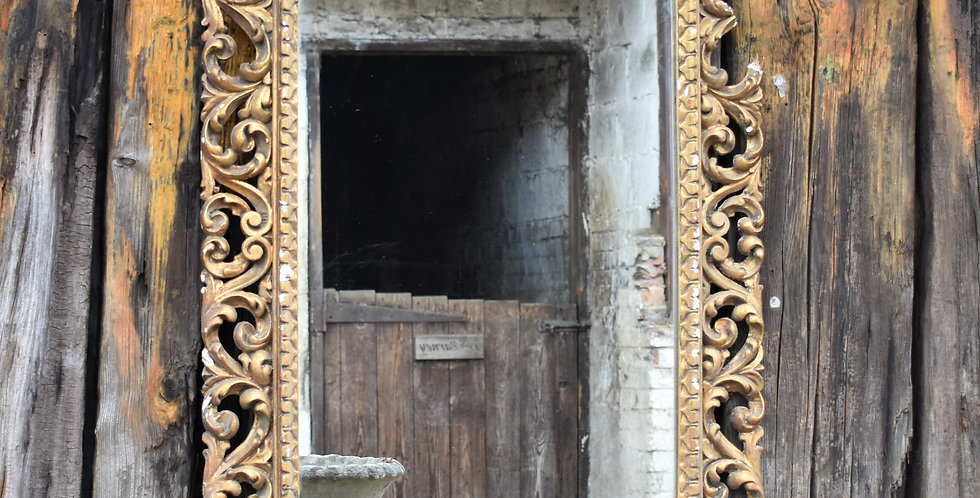 Antique Vintage Italian Gilt Gesso Mirror Large Wall Looking Glass Plate