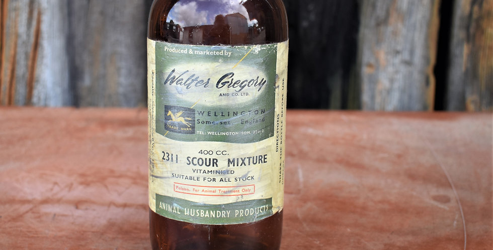 Vintage Walter Gregory and Co Sour Mixture Animal Welfare Old Bottle Empty