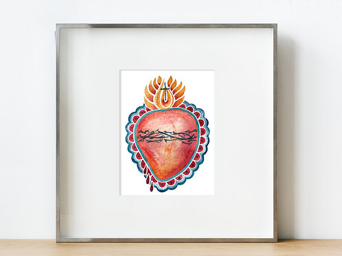 Mexican-inspired Sacred Heart | Digital Download