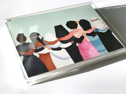 Arm in Arm Saint Blank Note Cards | Six Pack