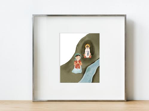 Saint Bernadette Print