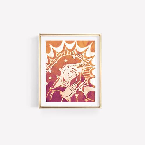 Madonna Sun Print