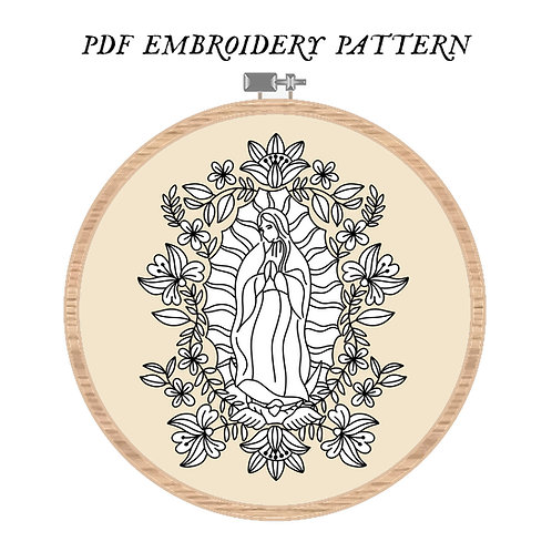 Our Lady of Guadalupe Embroidery Pattern PDF
