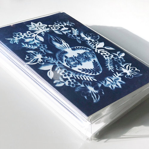 Wholesale Cyanotype Sacred and Immaculate Heart Blank Note Cards