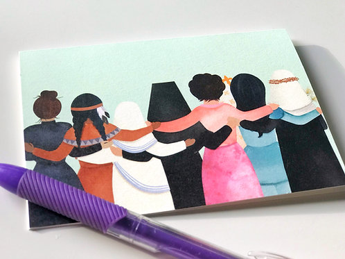 """Wholesale """"Better Together"""" female Saint Blank Note Cards"""