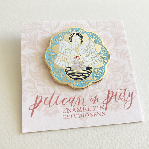 Seconds Pins   Pelican in Piety Enamel Pin