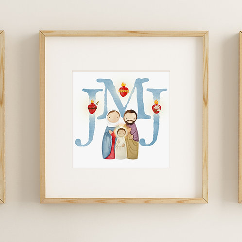 Wholesale JMJ Square Print | Jesus, Mary, Joseph