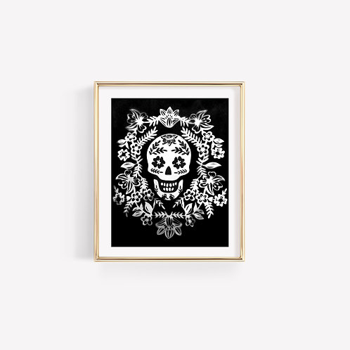 Black Momento Mori Sun Print