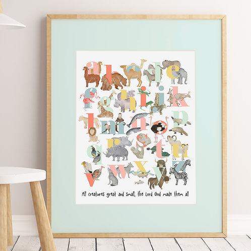 Wholesale Noah's Ark Alphabet Poster