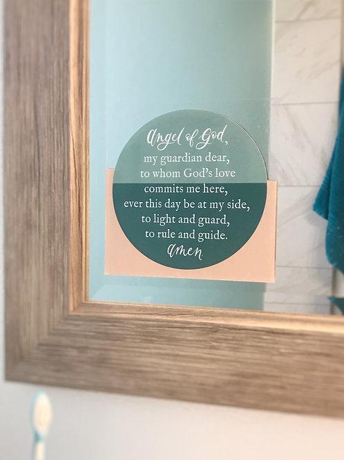 Guardian Angel Prayer Static Cling