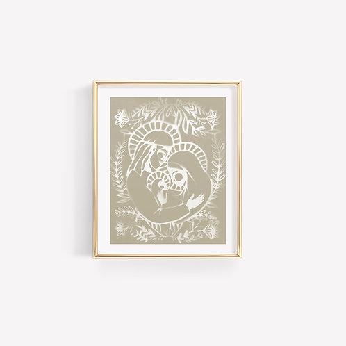 Nativity Neutral Sun Print