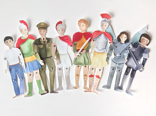 Soldier Saints Paper Puppets