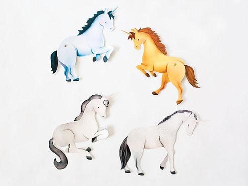 Unicorn Paper Puppets