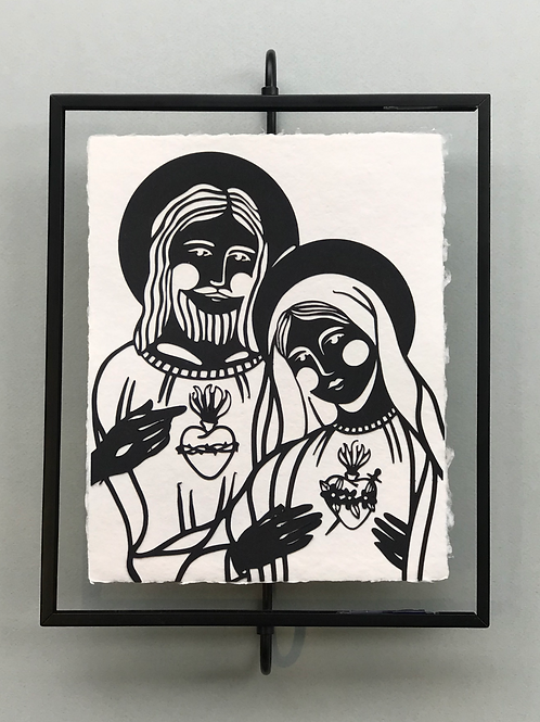 8x10 Mary and Jesus on Handmade Paper