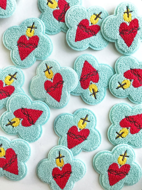 Sacred Heart Chenille Patch