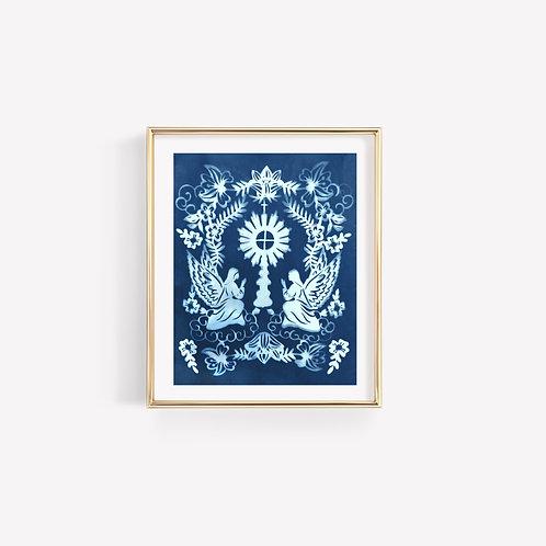 Cyanotype Monstrance Print