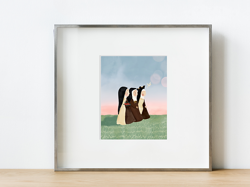 Carmelite Nuns Print