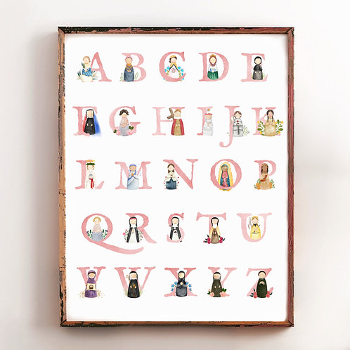 Wholesale of Alphabet Saints Poster | Girls