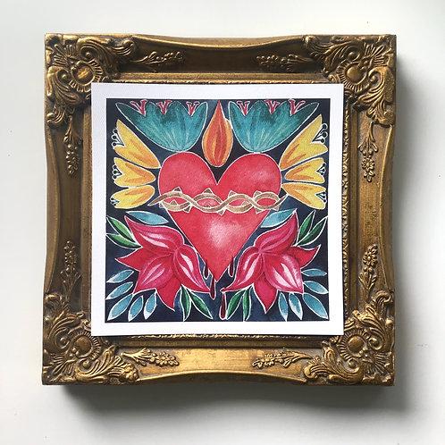 Spanish Tile Sacred Heart | Digital Download