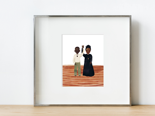 Saints Isadore and Josephine Print