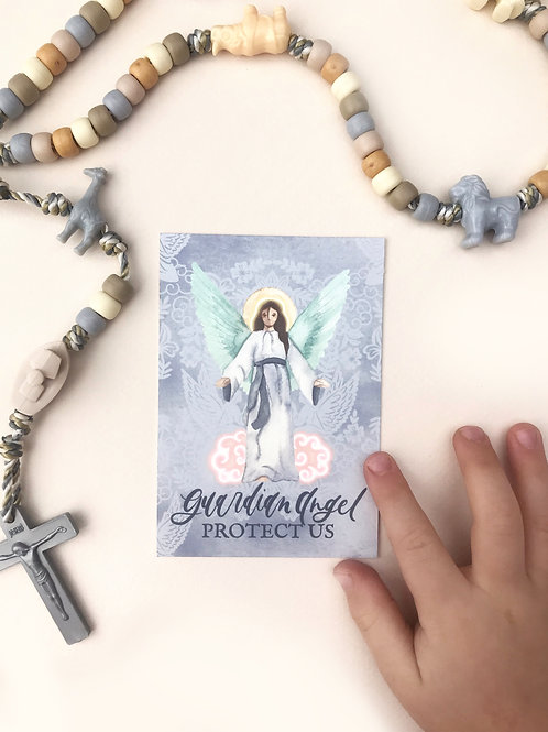 Guardian Angel Holy Card | Digital Download