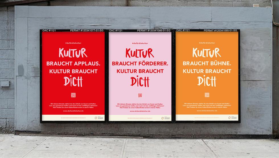 Campaigning OOH for DAKU Kulturförderung