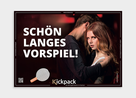 Design & Layout of the Out of Home Campaign for Kickpack, Hamburg