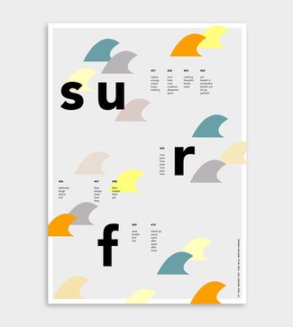 Graphic Design Print Poster #surf