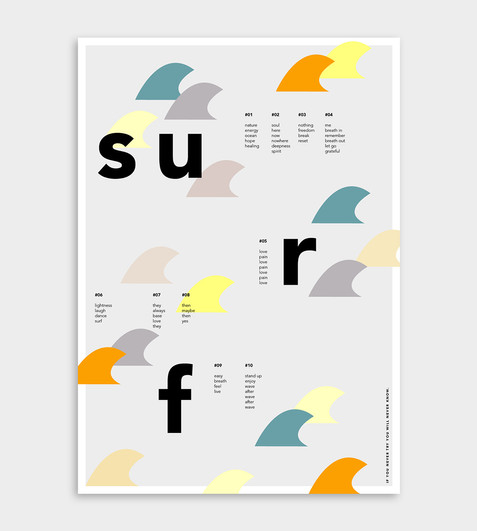 Graphic Design Poster #surf