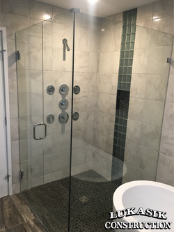 Tile Shower with Body Sprays