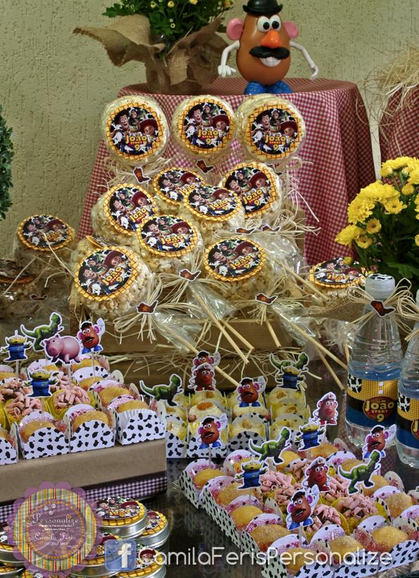pirulitos de pipoca doce toy story