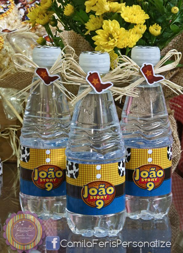 agua personalizada toy story