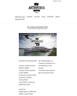 Art Un-Anchored Website