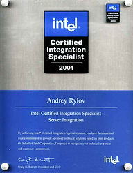 сертификат Intel