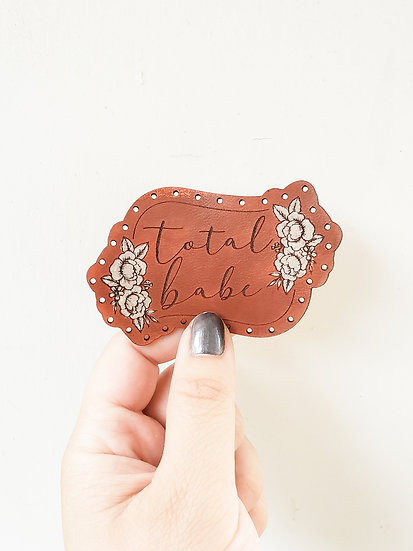 Total babe leather patch