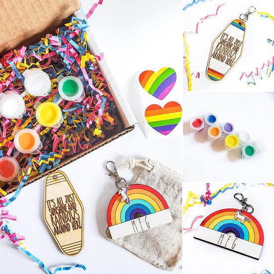 Personalized Rainbow Keychain Kit