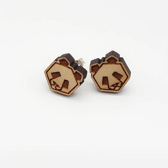 Origami Panda Earrings