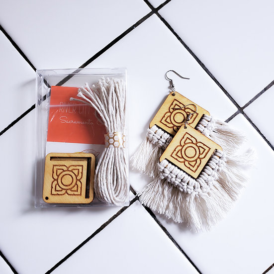 DIY Macrame Earring Kit