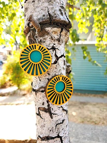 Layered Sunburst Earrings