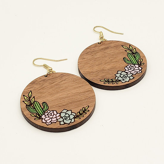 Cactus and Succulent earrings