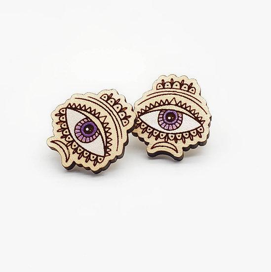 Creepy and cute eye earrings