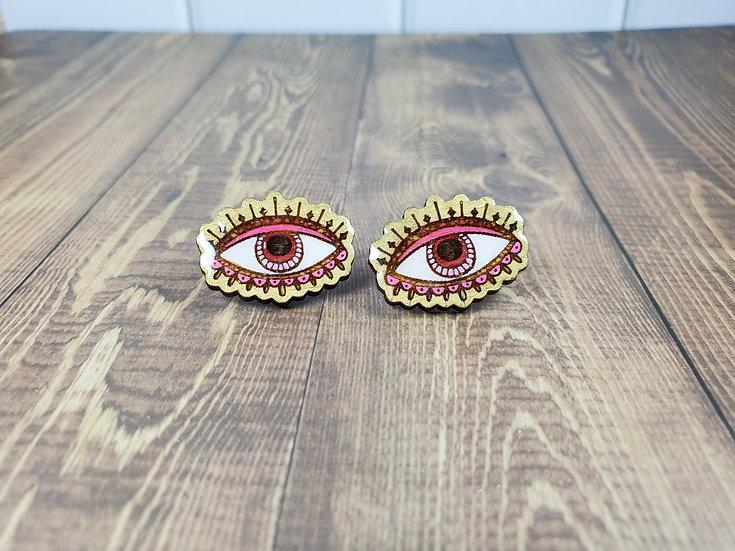 All seeing eye earrings