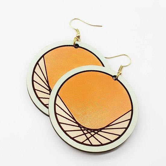 Wood dreamcatcher earrings